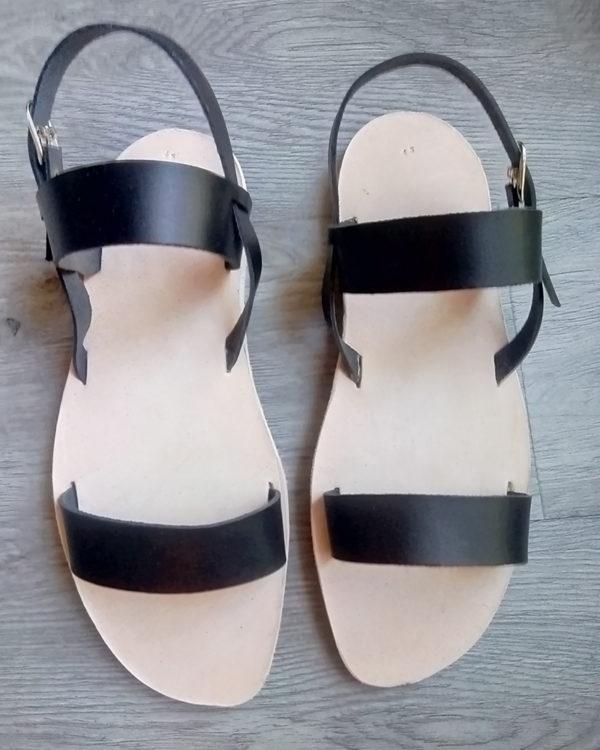 Sandale Romaine Noire Homme