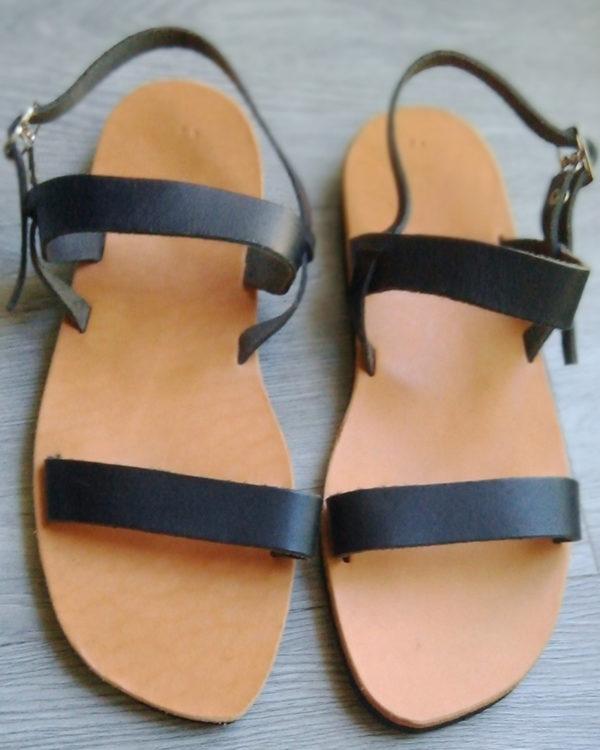 Sandale Romaine Noire femme