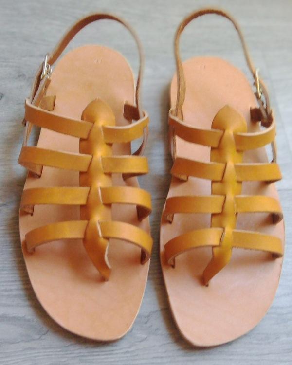sandales nu-pied naturel femme