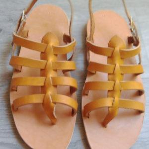 sandales nu-pied naturel homme