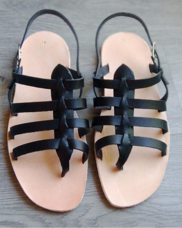 sandales nu-pied noire femme
